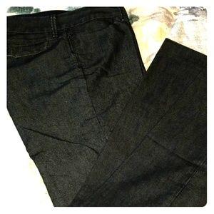 Banana Republic black trouser jeans size 8p